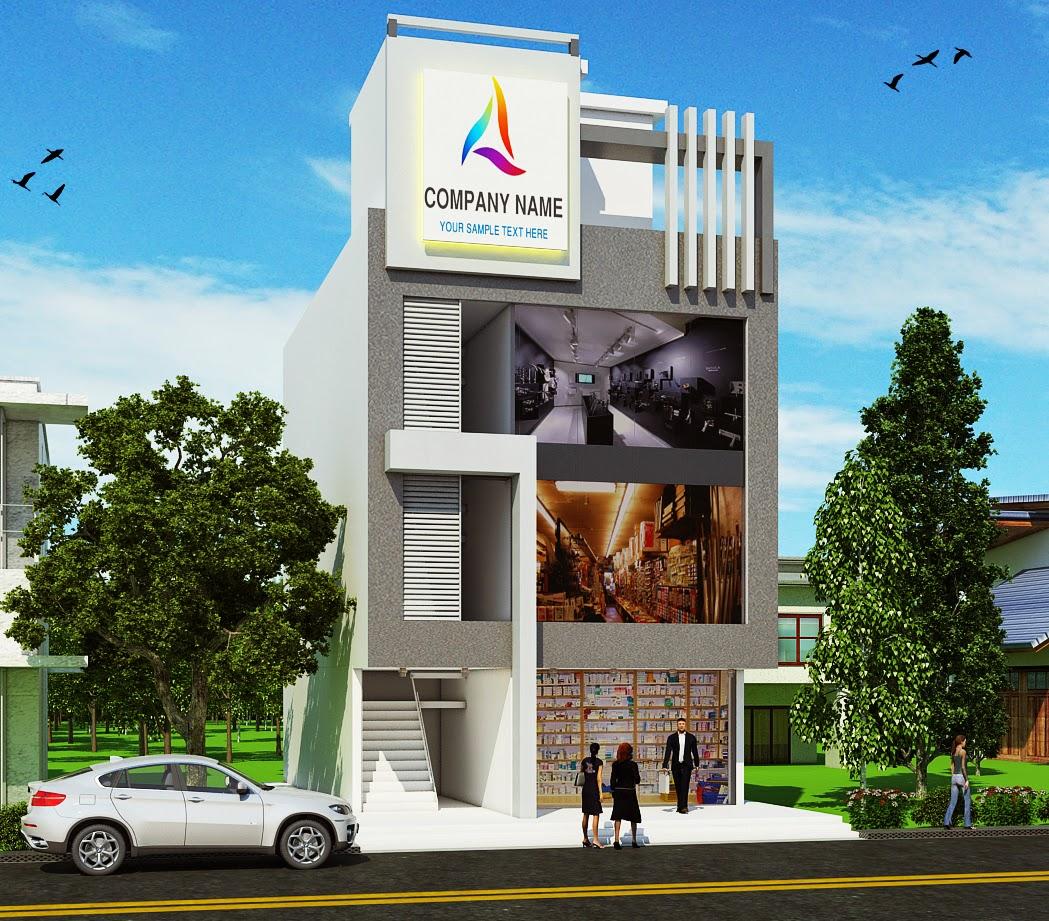 Resurrectiion multimedia elevation of commercial building for Commercial building elevation photos