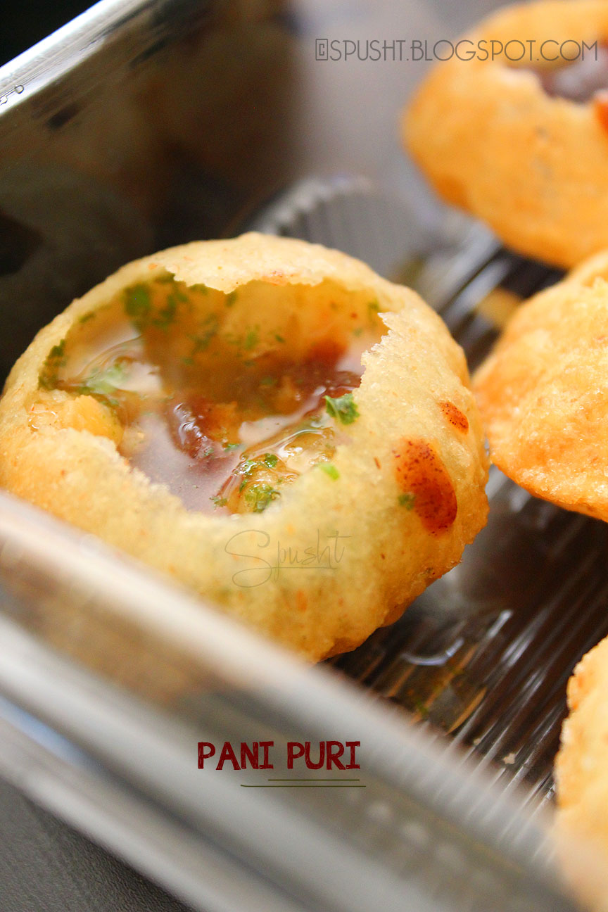 Spusht pani puri recipe indian chaat street food spusht pani puri recipe gol gappe indian chaat forumfinder Images