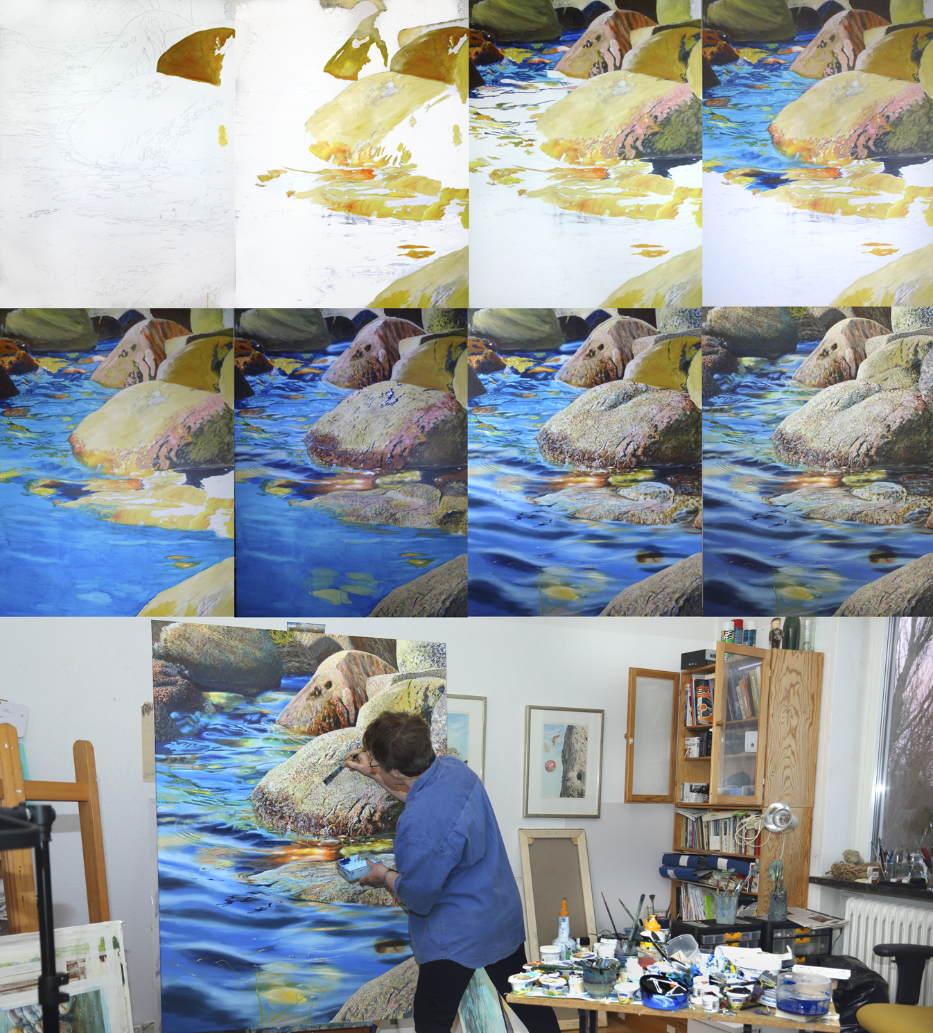 artist elizabeth tyler step by step painting rocks