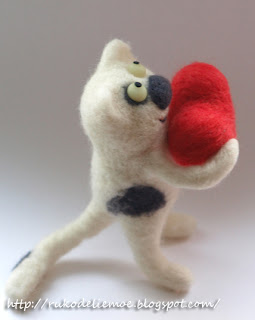 валяние из шерсти, felting, игрушки из шерсти, день св. Валентина