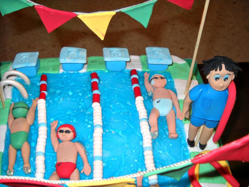 Endulza tu cocina tarta piscina for Piscina goma