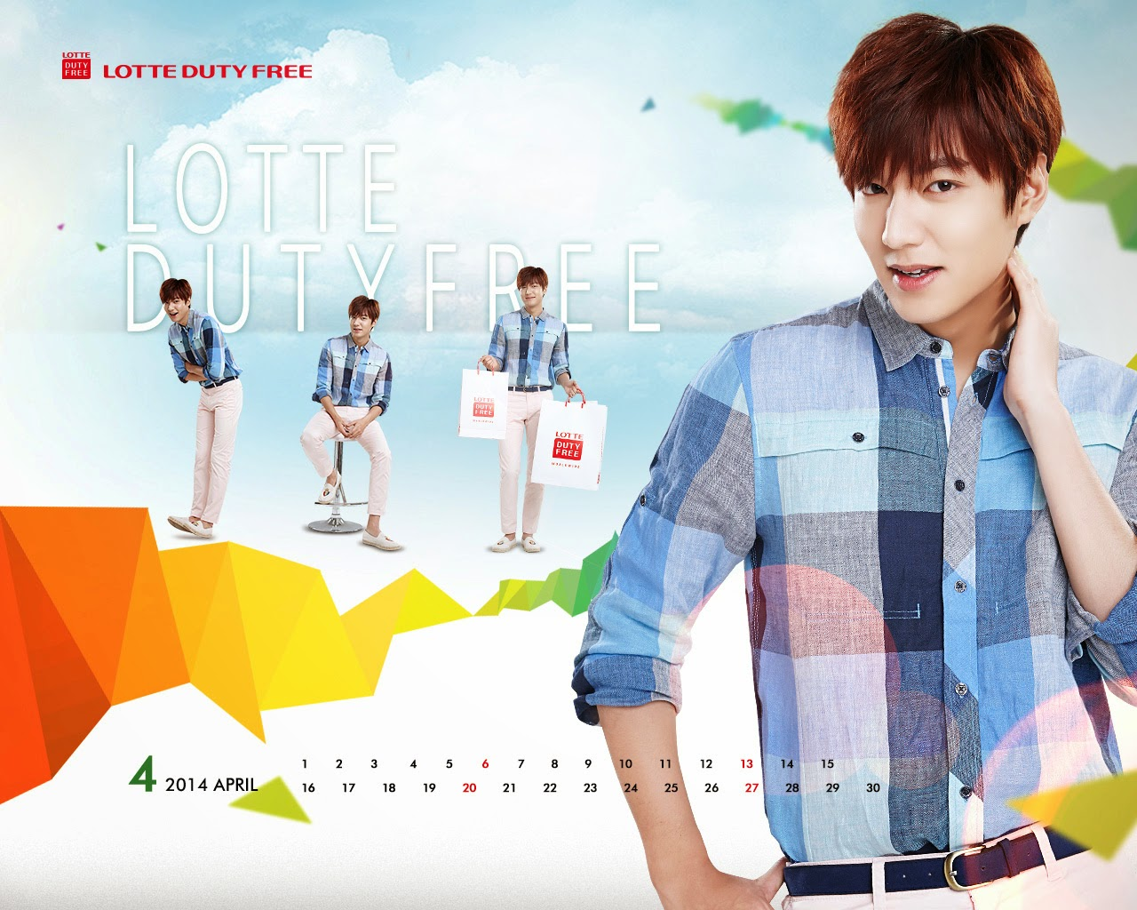 LEE MIN HO Y PARK SHIN HYE EN NUEVOS WALLPAPERS Y CALENDARIOS - ABRIL