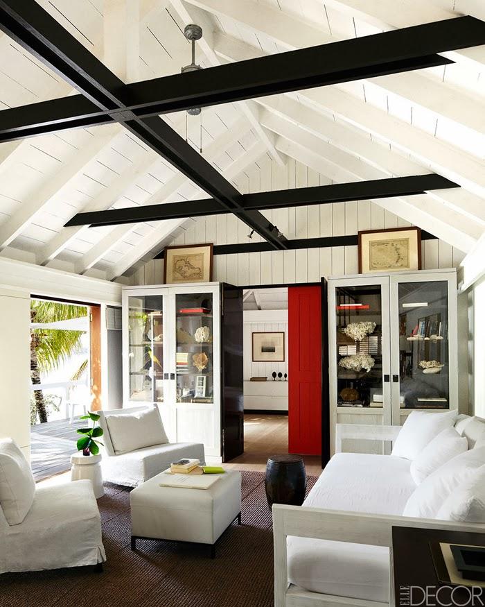 amenajari, interioare, decoratiuni, decor, design interior, casa de vacanta pe plaja, marea caraibelor, living,