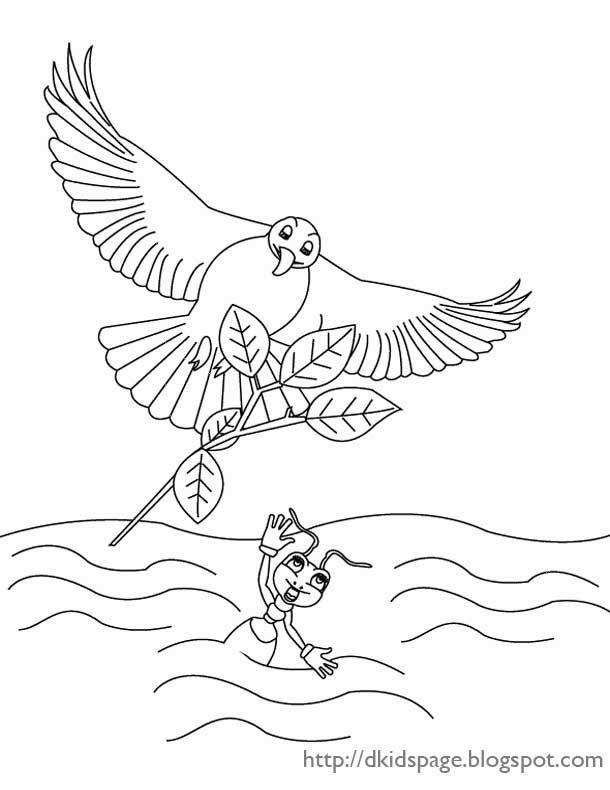 aesop fable coloring pages - photo#26