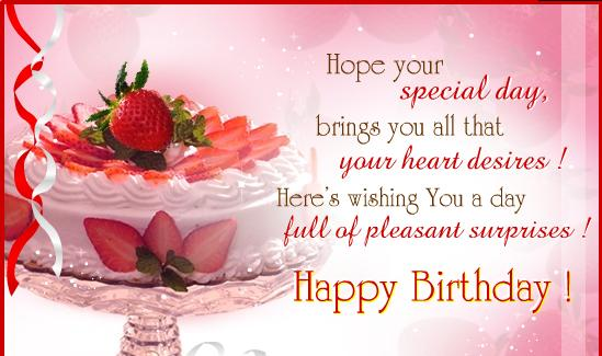 Birthday Wishes For Friends Cards