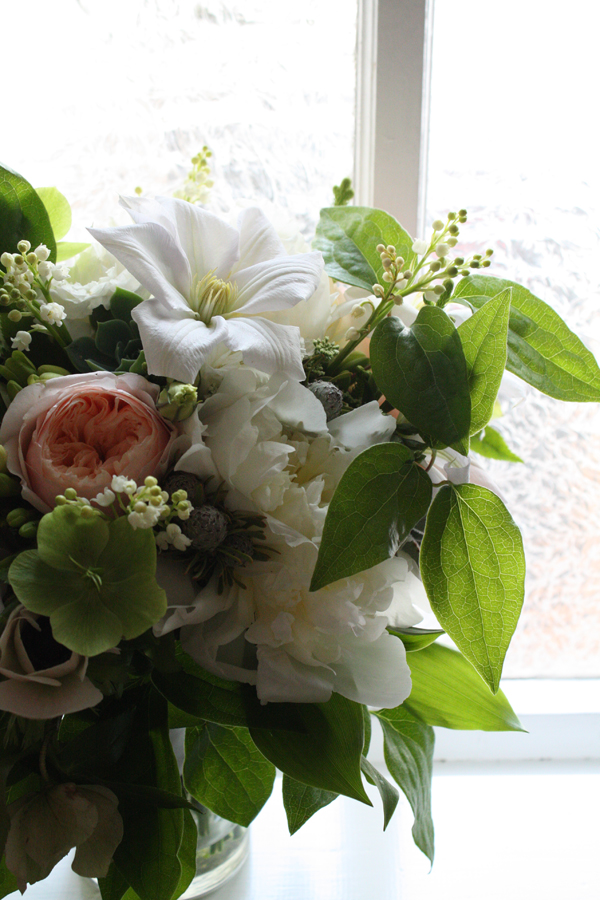 crosspollination: clematis, hellebores, lily of the valley