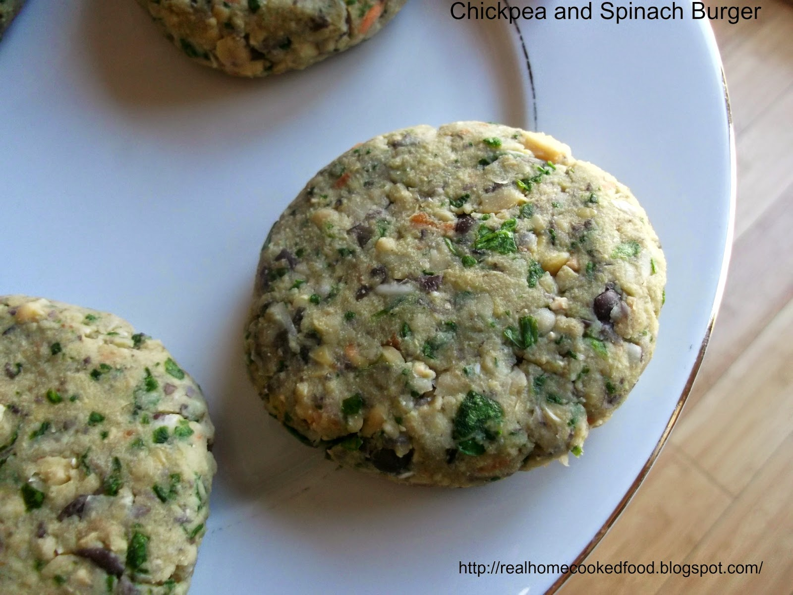 HCF: Chickpea and Spinach Burger