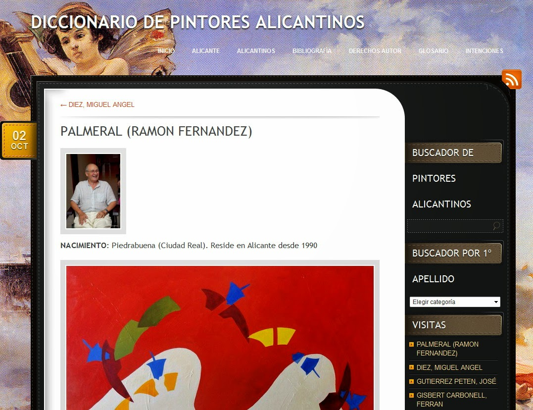 Estoy en el Diccionario de Pintores Alicantinos