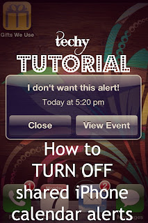 Techy Tutorial: How to Turn off Shared iPhone Calendar Alerts