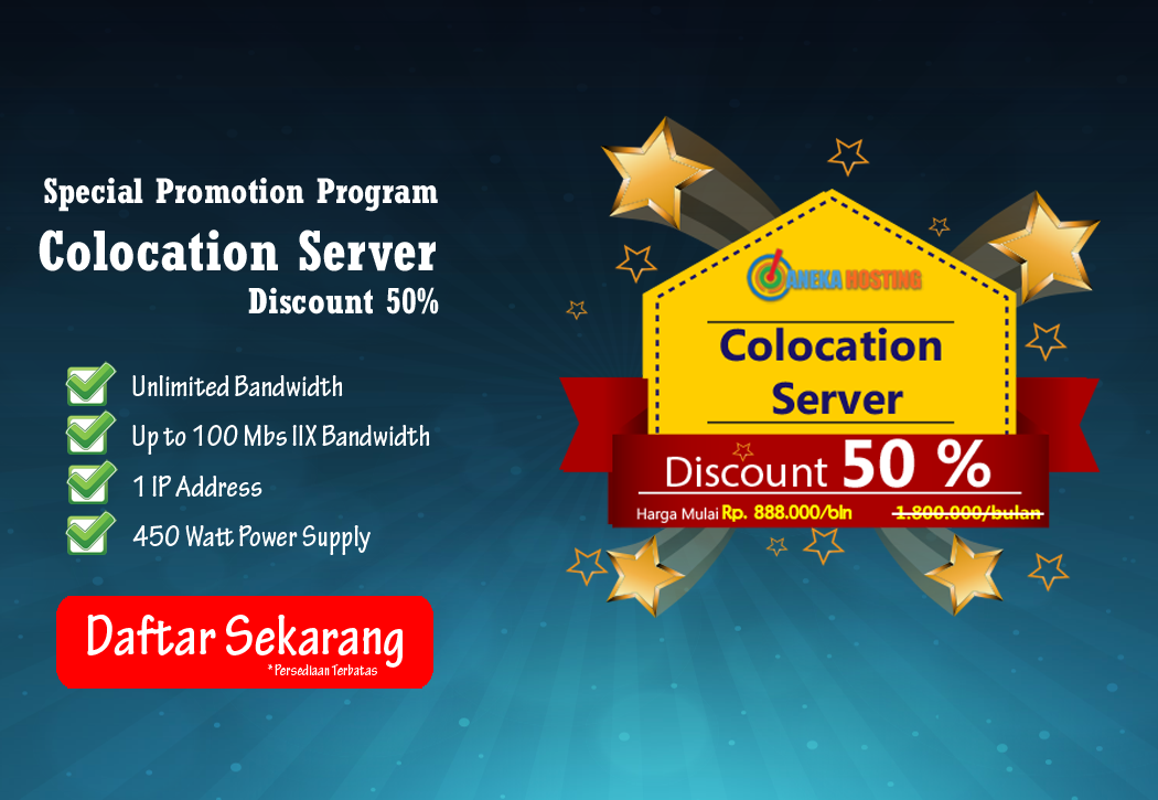 Promo Colocation Server AnekaHosting.com