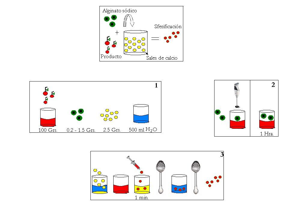 cocina molecular vanguardia  esferificaciones