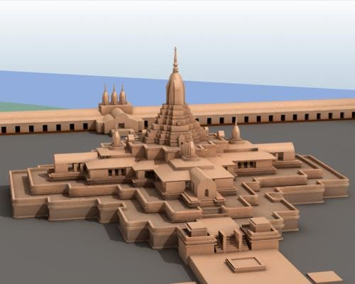 total site of paharpur with model image