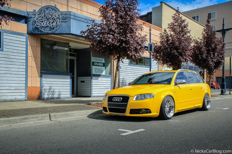 Cassies Imola Yellow B7 Audi S4 Avant Car Modifications