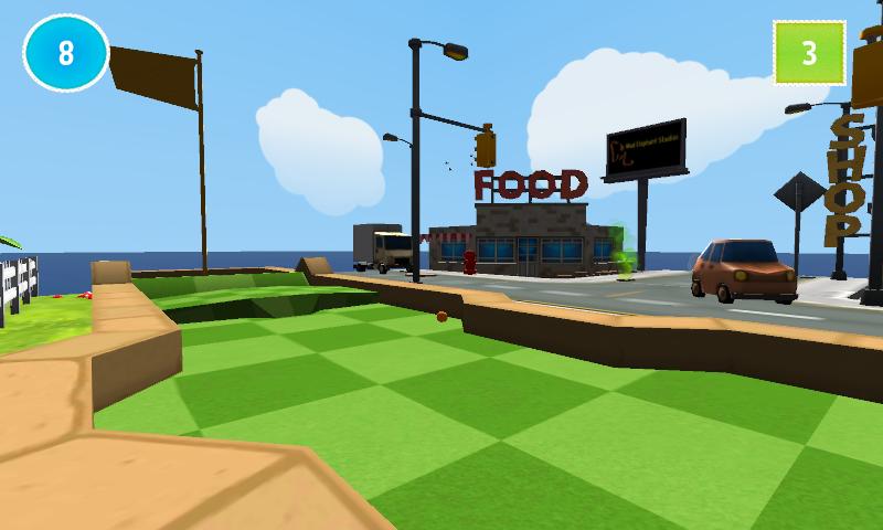 cartoon mini golf game 3d