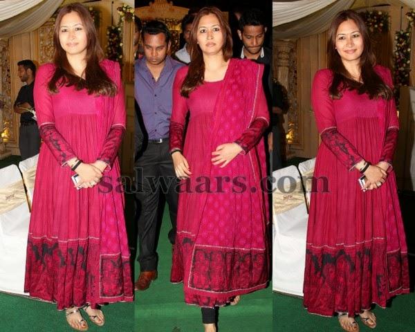 Jwala Gutta Latest Pink Chruidar
