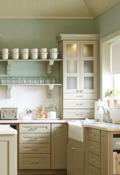 Martha Stewart - Ox Hill Purestyle (Ocean Floor) - love the chunky open  shelving