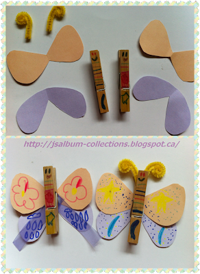 How to make clothespin butterfly