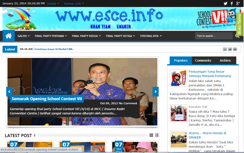 Juara 2 Journalist Blog School Contest VII