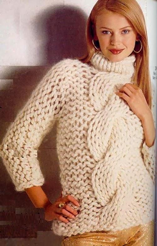Для вязания спицами для толстой пряжи