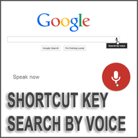 Shortcut Key Untuk Search By Voice