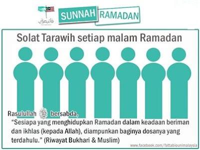 ramadhan, puasa, sunnah, terawih, solat, sunat, hidup