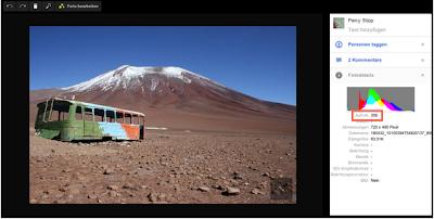 Google+ - Album oder Foto in der Lightbox-Ansicht öffnen, um zu sehen, wieviele es sich angeschaut haben