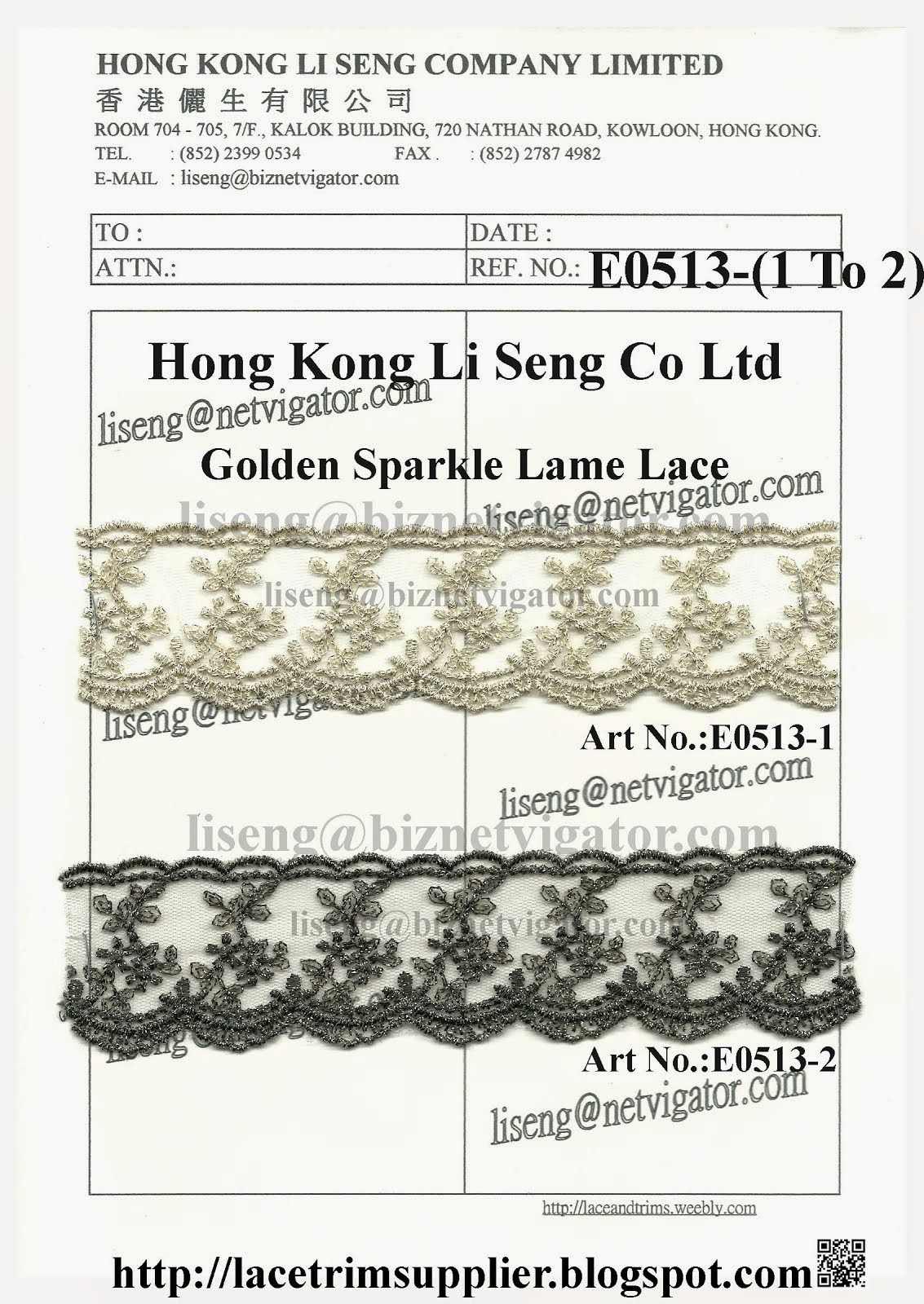 Golden Sparkle Lame Lace Trims Factory - Hong Kong Li Seng Co Ltd
