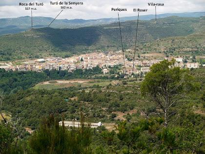 Puig-reig des del Serrat de la Cua de la Guilla