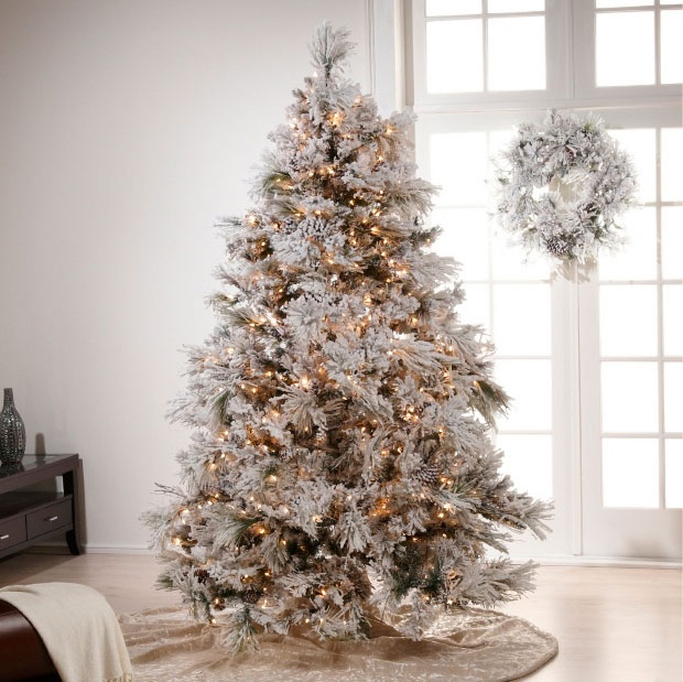 White And Gold Tree Decorations Of Chic Beautiful Life Merry Christmas
