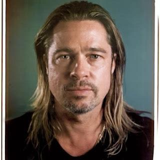 Brad Pitt pose sans maquillage