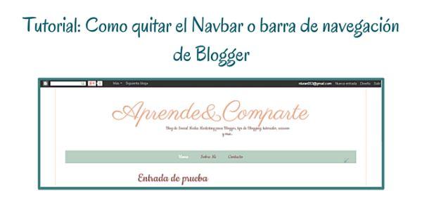 quitar narvbar de blogger