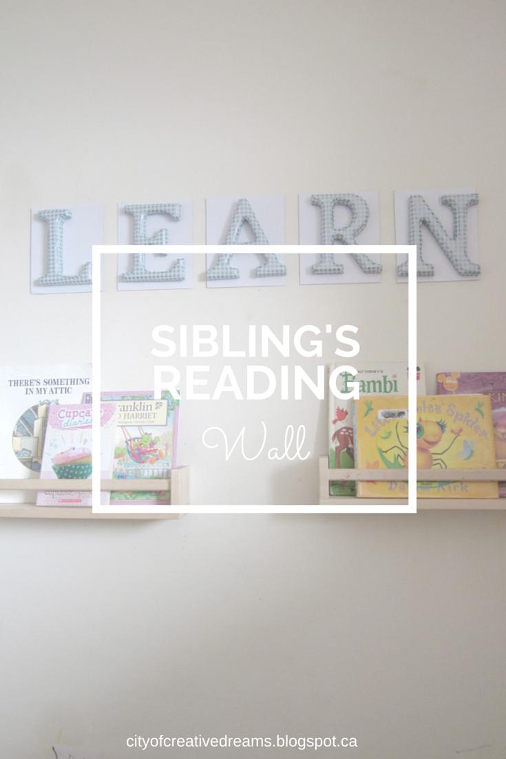 kids bedroom reading wall