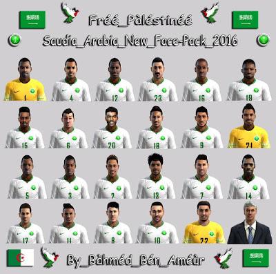 PES 2013 Saudia Arabia New FacePack 2016 by BàhméD BéN AméùR