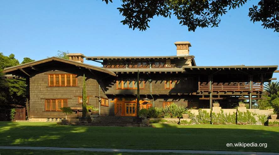 Gamble House en Pasadena, California 1908