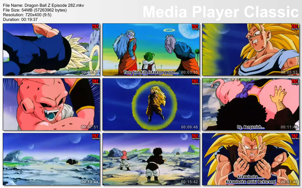 Film / Anime Dragon Ball Z Majin Buu Saga Episode 282 Bahasa Indonesia