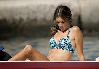 Alessandra Ambrosio Tiger Bikini Saint Tropez