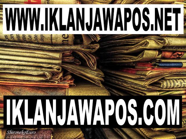 Harga Iklan Koran Jawa Pos