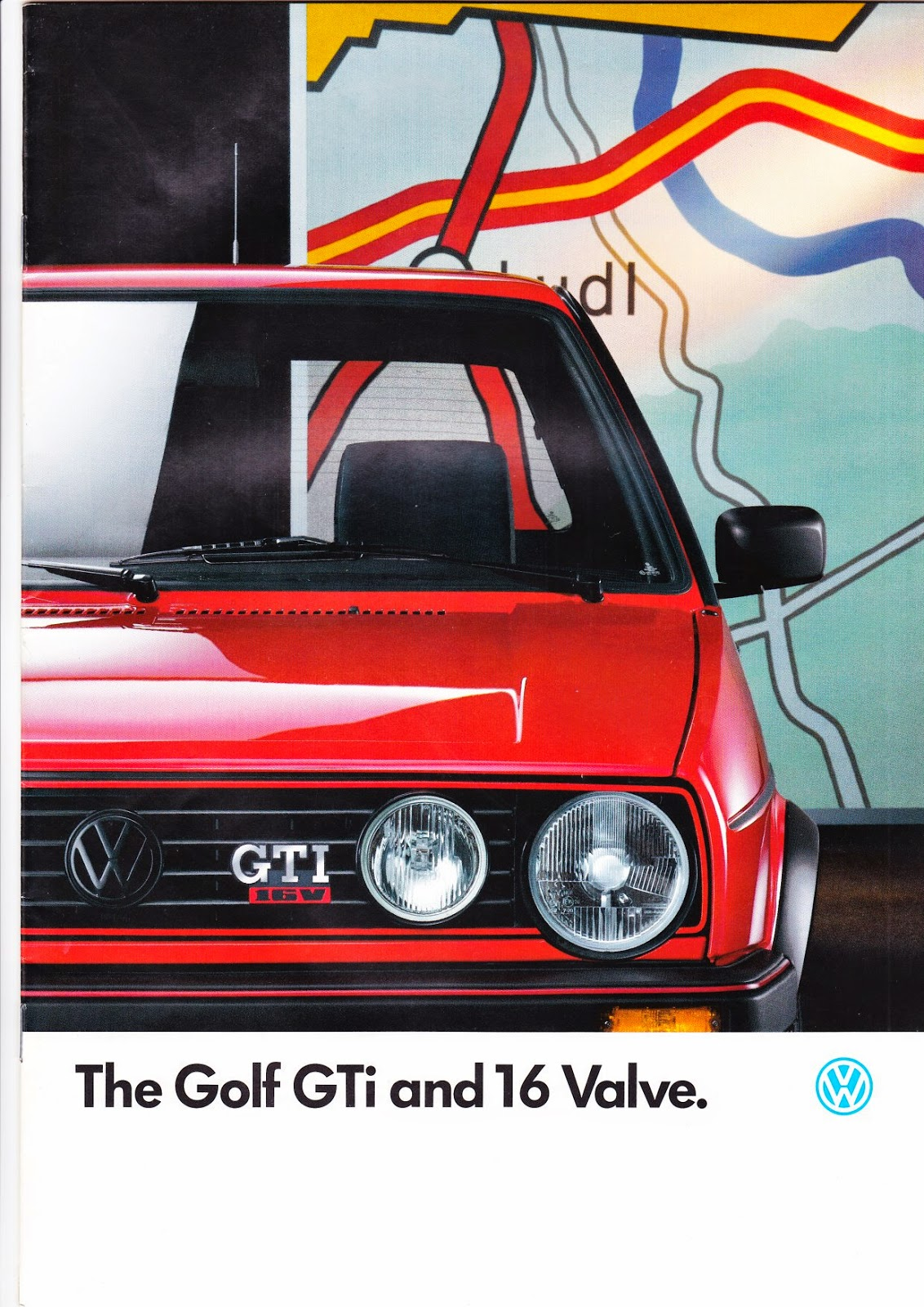 VW Golf MK2 GTI 1.8 16V Original Sales Brochure