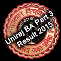 Uniraj BA Part III Year Result 2015