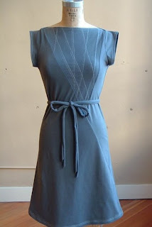 Triangle Dress in Granite Grey Jersey
