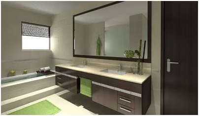 LARGE BATHROOM VANITIES AND CABINETS IN A MODERN BATHROOM DESIGN