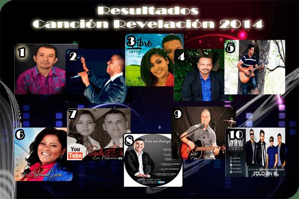 "Resultados ""Canción Revelación 2014"""