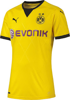 gambar desain terbaru Jersey Borrusia Dortmund home Liga Eropa 2015/2016 di enkosa sport toko jersey terpercaya