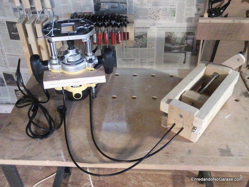 Sistema de elevación de mesa fresadora, enredandonogaraxe.com