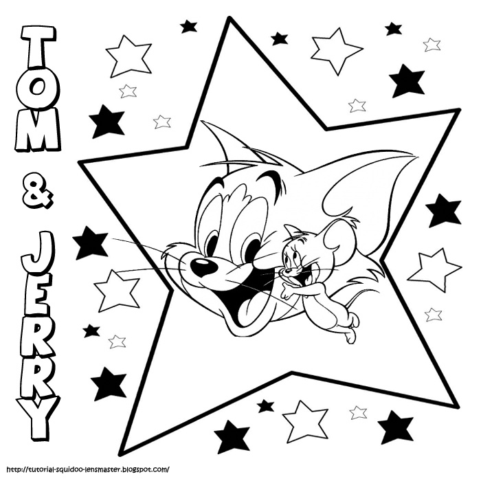 Tom and jerry page to color