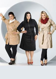 Otero Plus Size: vestidos-casaco (Trechcoat)