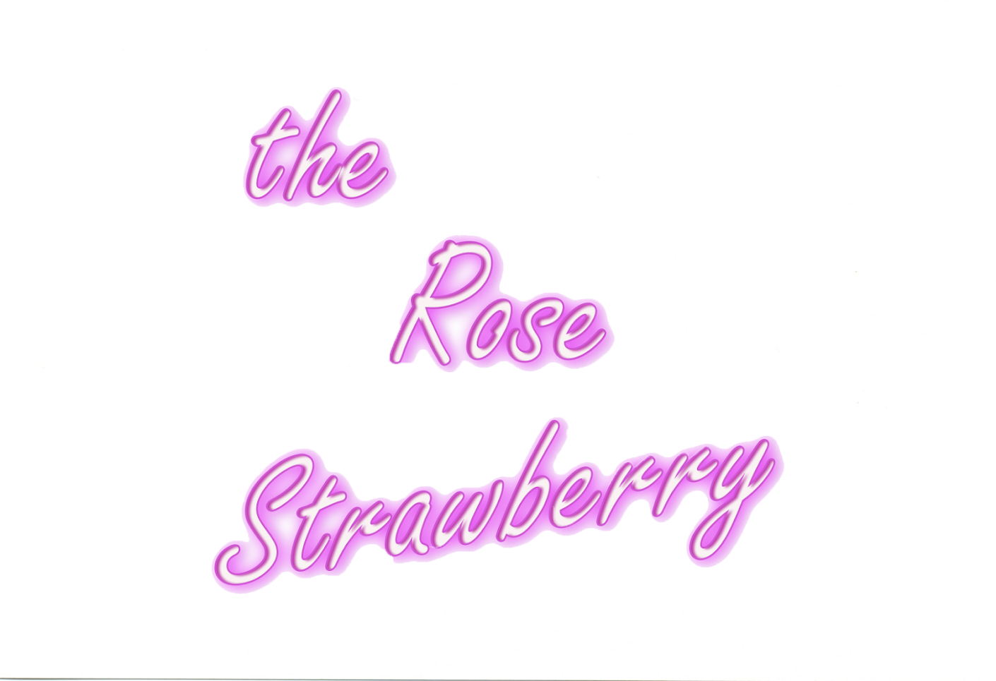 The rose strawberry