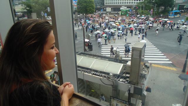 Vista de Shibuya Crossing a partir da starbucks