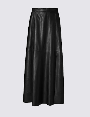 Marks and Spencer Faux Leather A Line Midi Skirt
