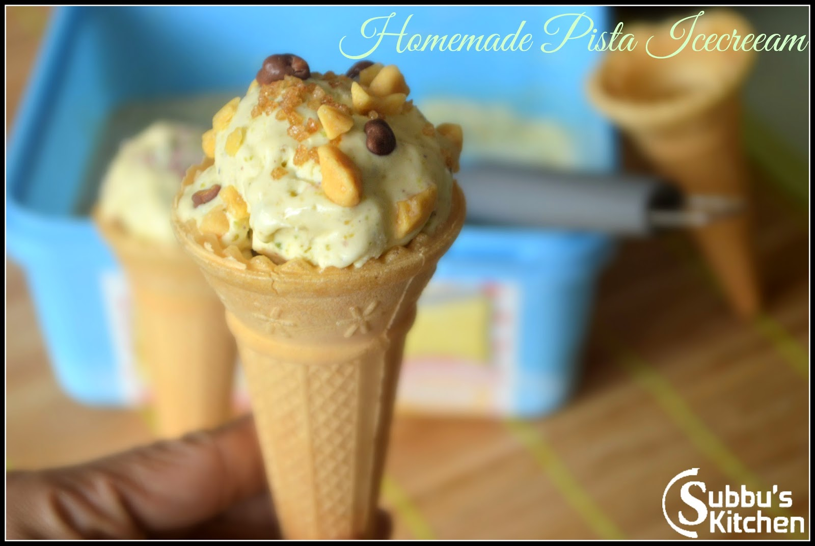 Homemade Pista Icecream